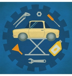 Car repair service icons vector