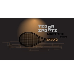 Tennis racket and slogan vector