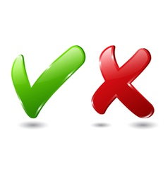 Check and cross mark vector
