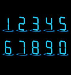 Digital led numbers vector