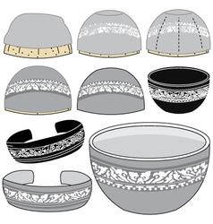 Chinaware silver vector