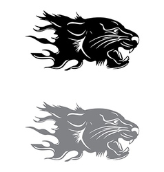 Tiger head silhouette vector