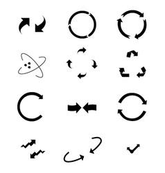 Turning arrows 2 vector