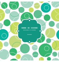 Abstract green circles frame seamless vector