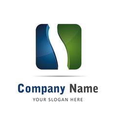 Corporate brand logo logo cube wave vector