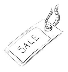 Sale luggage tag icon vector