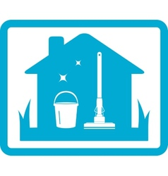 Cleaning home icon vector