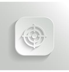 Target icon - white app button vector