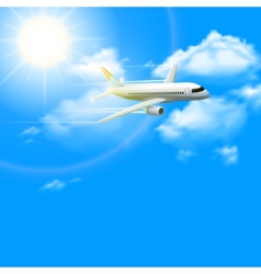 Realistic plane poster vector