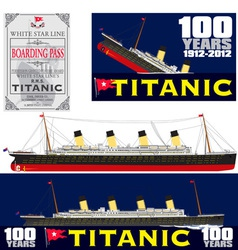 Titanic 100 years anniversary vector