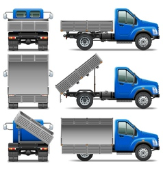 Lorry icons set 4 vector