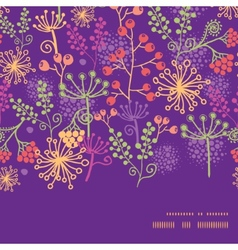 Colorful garden plants horizontal frame vector
