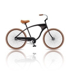 Realistic bicycle isolated vector