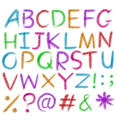 Letters of the alphabet in bright colors vector