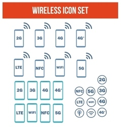 Mobile wireless telecommunications technology vector