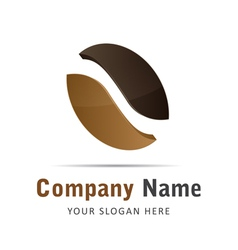 Corporate brand logo logo coffee beans brown vector