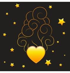 Heart with smoke vector