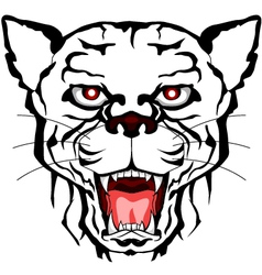 Panther head tattoo tribal vector