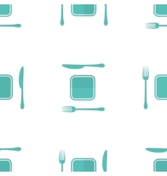 Plate fork and knife seamless pattern made vector