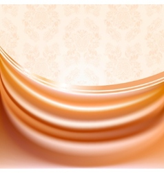 Peach silk curtain vector