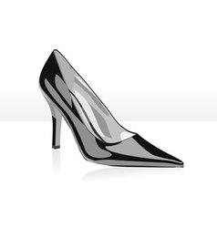 High heel black woman shoe vector