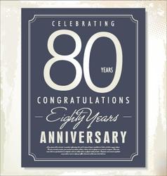 80 years anniversary background vector