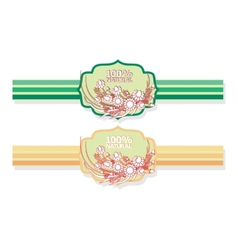 Label with floral pattern vector