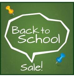 Back to school sale  speech bubble vector