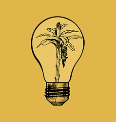 Eco lamp vector