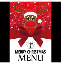 Christmas menu vector