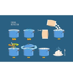 Cooking instructions infographics of cooking vector