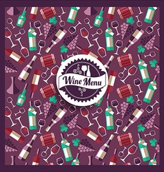 Wine menu card vector