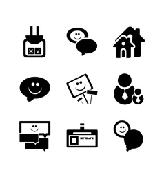 Social internet icons vector