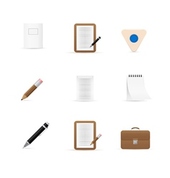 Icons for office and stationery vector