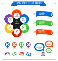 Info graphic flat design vector