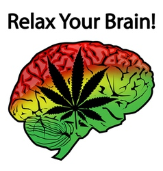 Relax your brain vector