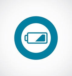 Low battery icon bold blue circle border vector