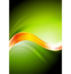 Green and orange waves vector