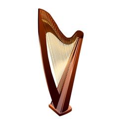 Harp on white vector