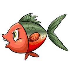 Ugly fish vector