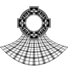 Stencil of scottish celtic ring vector