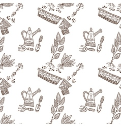 Planting seamless pattern vector