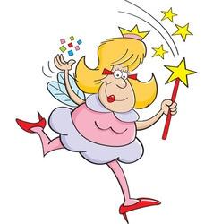 Cartoon fairy godmother vector
