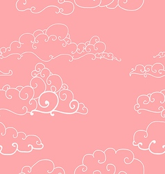 Seamless pattern of imaginative clouds vector