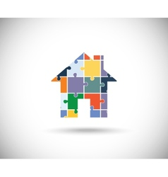 Abstract color house vector