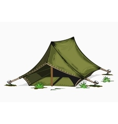 Painted tent vector