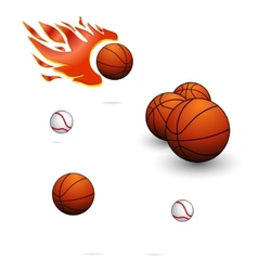 Sport balls sign set vector