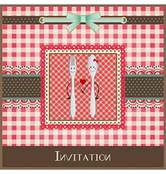 Greeting card or menu design vector