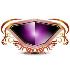 Elegant purple shield on a white background vector