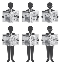 Businessman read newspaper vector